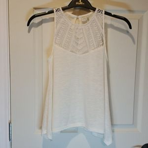 PAPER CRANE Sleeveless Flowing Blouse/Top/Shirt
